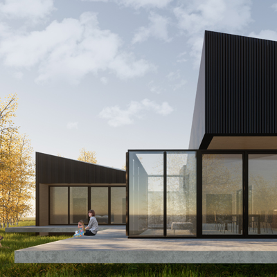 Villa Oosterwold, Almere, designed by NOAHH | Network Oriented Architecture