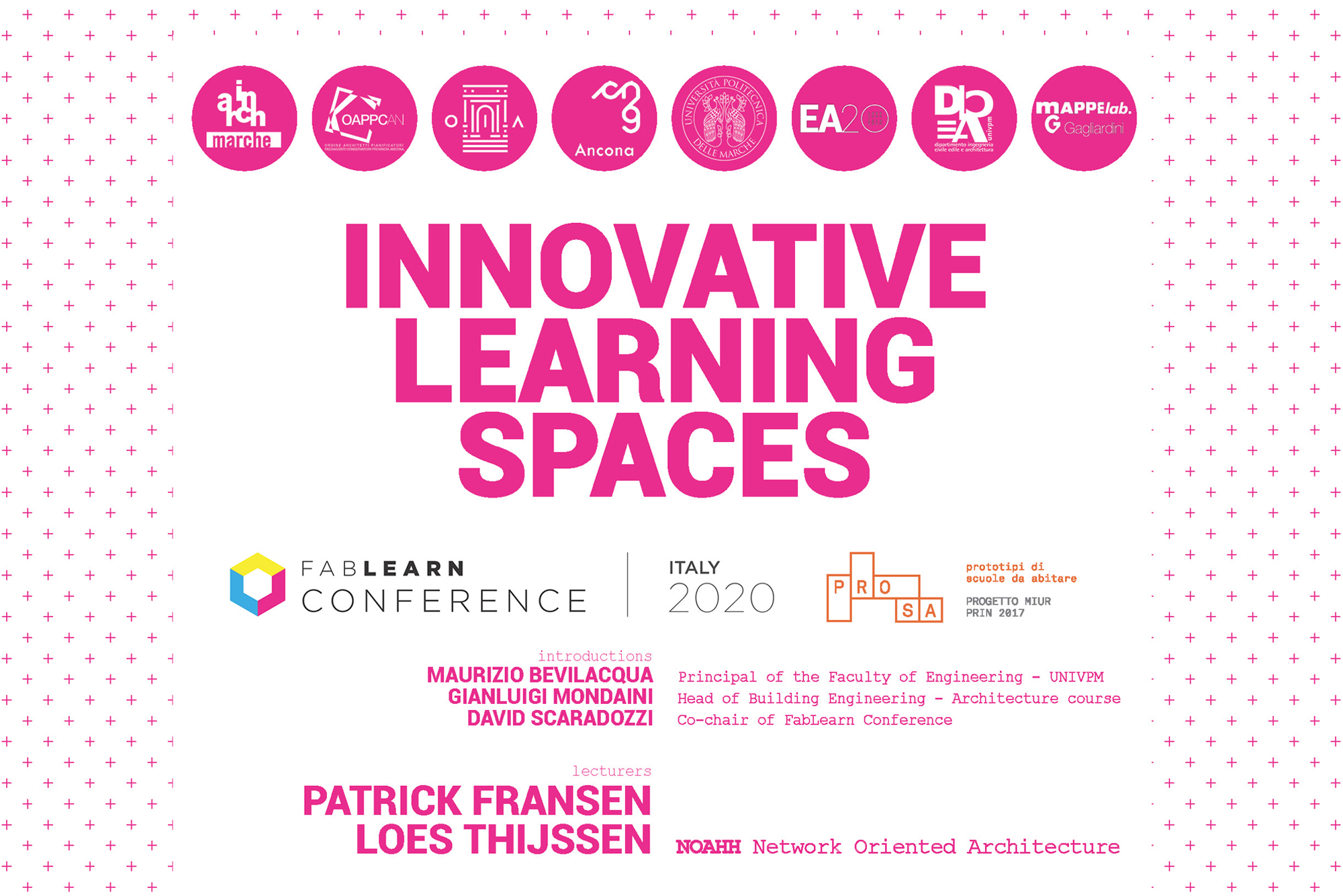 Innovative Learning Spaces lecture, by Patrick Fransen and Loes Thijssen, NOAHH