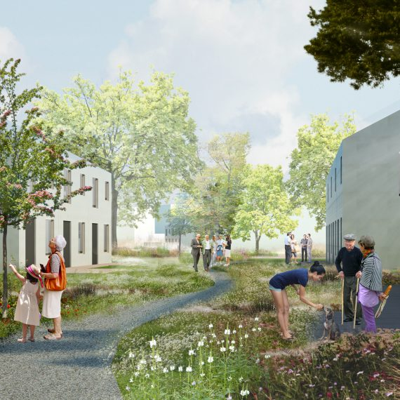 Debbautshoek Housing, designed by NOAHH | Network Oriented Architecture