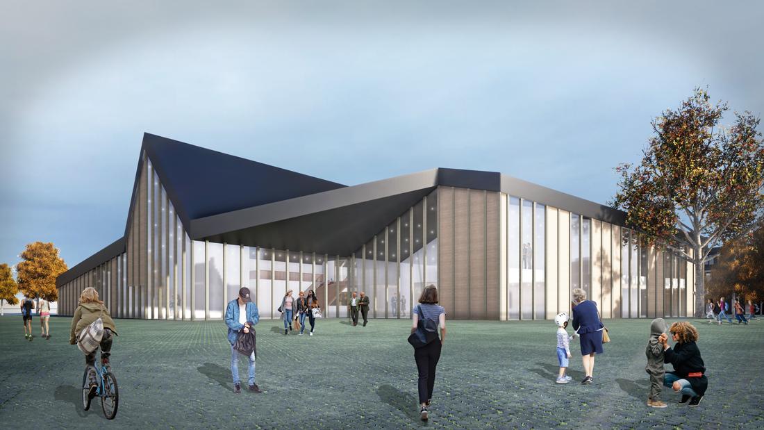 Community Centre in Zwartewaal, designed by NOAHH