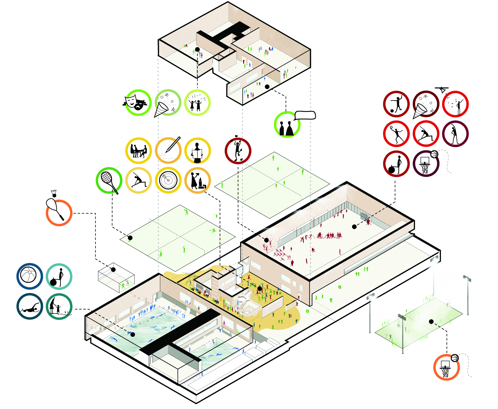 MFC Doelum, designed by NOAHH | Network Oriented Architecture