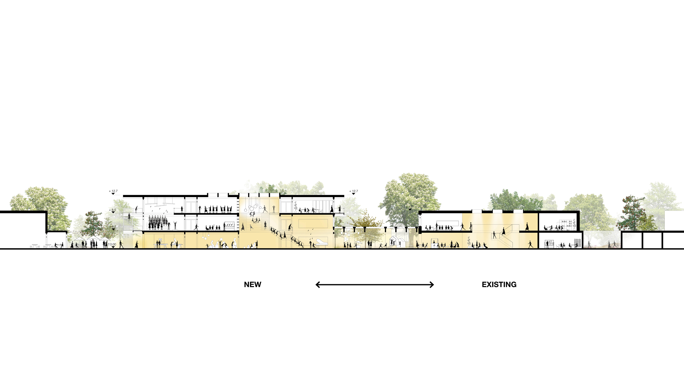 Schulzentrum Schenefeld , designed by NOAHH and AMF