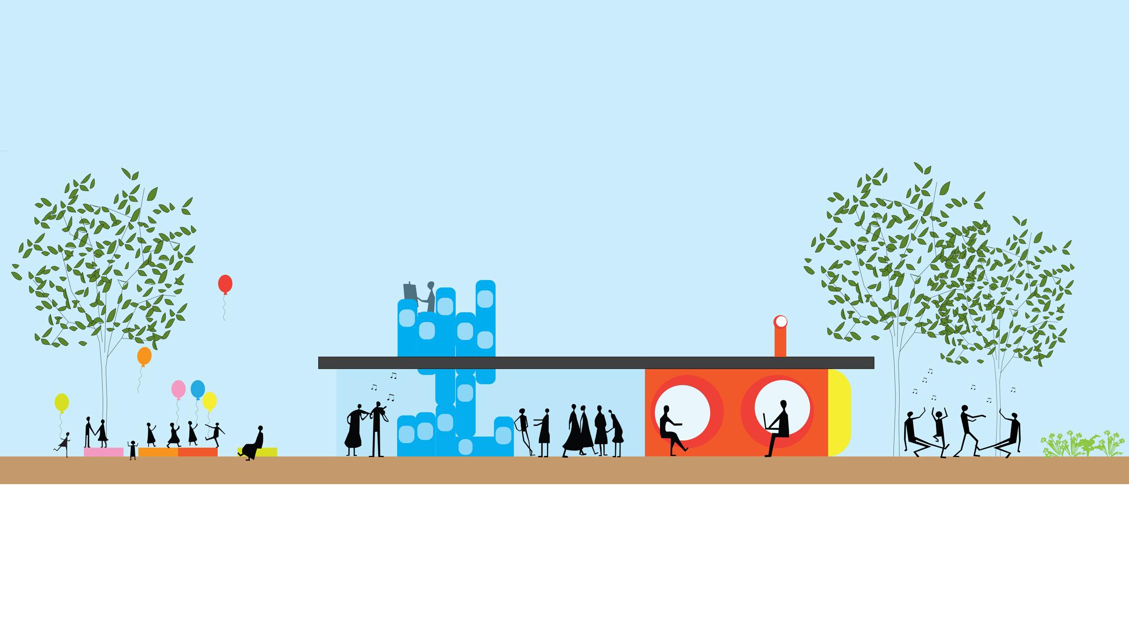 Community Centre De Zeeslag, designed by NOAHH | Network Oriented Architecture